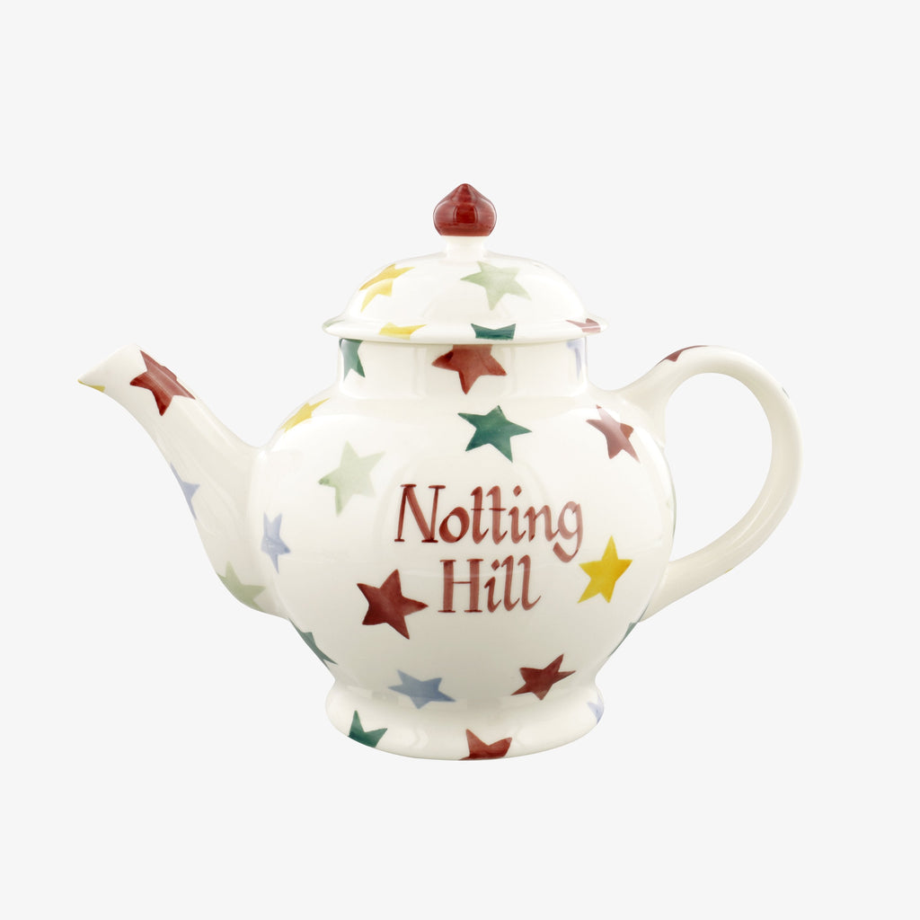 Personalised Polka Star 4 Mug Teapot