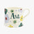 Personalised Polka Floral Small Mug