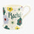 Personalised Polka Floral 1/2 Pint Mug