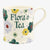 Personalised Polka Floral 1 Pint Mug