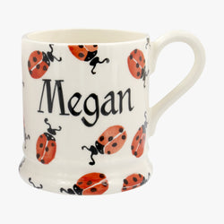 Personalised Red Ladybird 1/2 Pint Mug