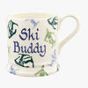 Personalised Skiing 1/2 Pint Mug