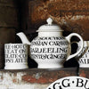 Black Toast All Over 4 Mug Teapot Boxed