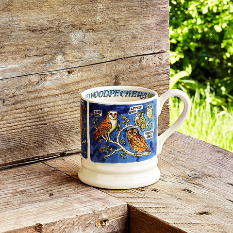 Seconds Owls and Woodpeckers  1/2 Pint Mug