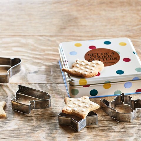 Polka Dot Cookie Cutters in Tin