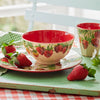 Vegetable Garden Strawberries Bamboo Melamine Bowl
