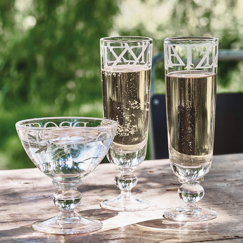 Black Toast Champagne Glass
