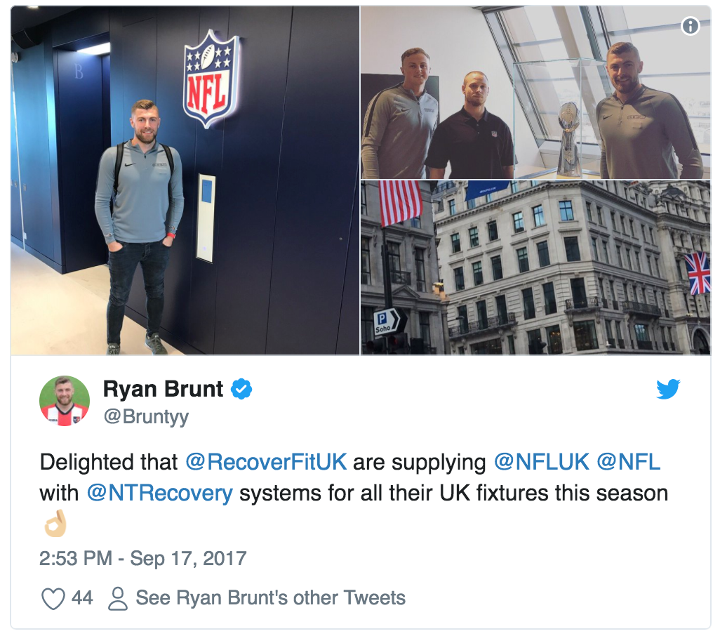 Ryan Brunt on supplying the NFL with recovery systems