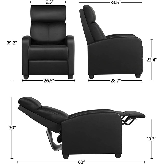 NormaTec Reclining Chair - Premium [Black]