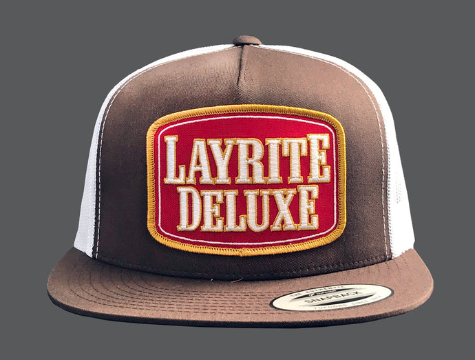 Layrite Stacked Trucker Hat Brown/White