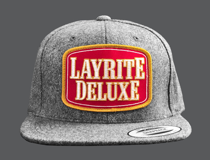 Layrite Stacked Snapback Heather Grey