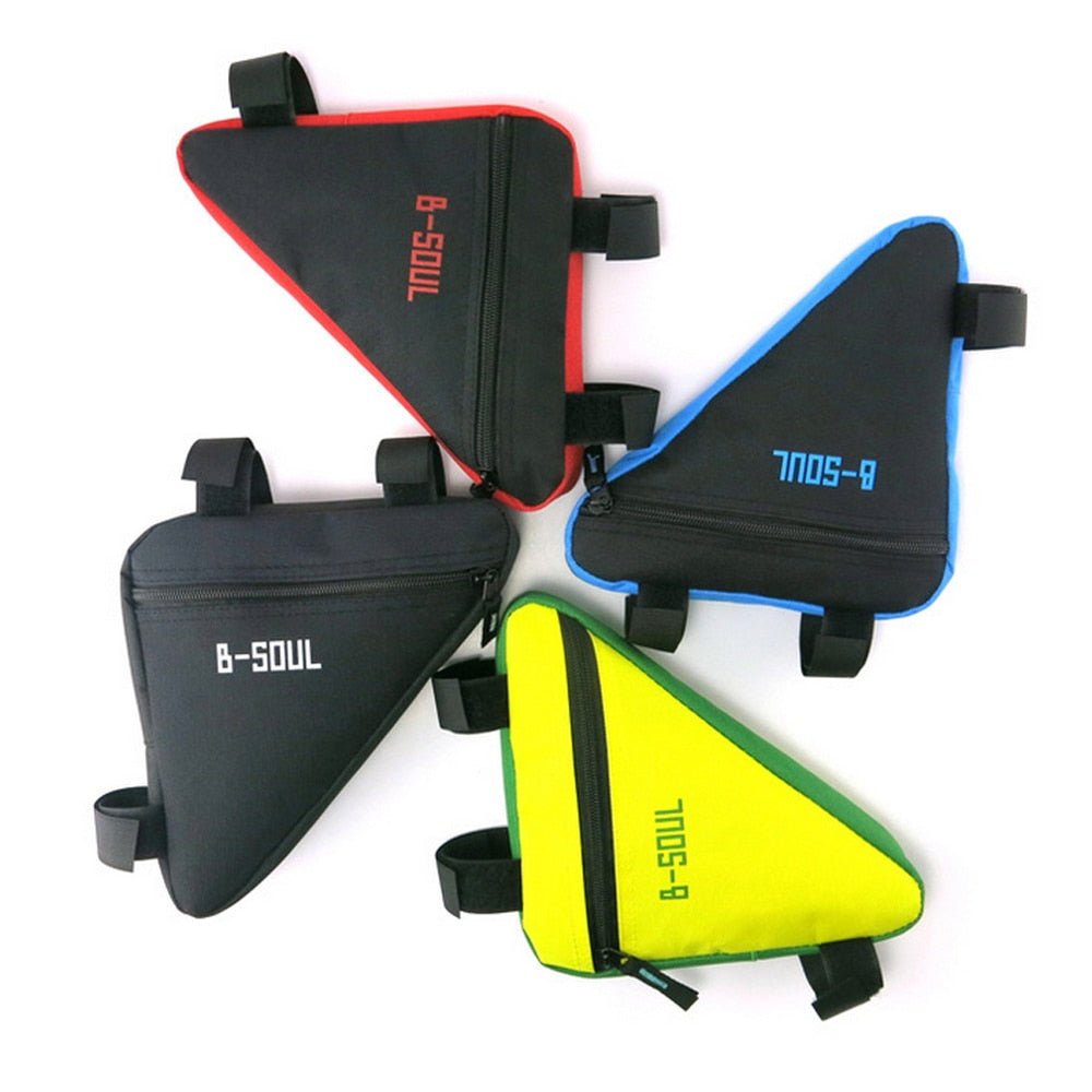 Triangle Cycling Bike Bicycle Front Tube Frame Pouch Saddle Bag Case 4 Colors US