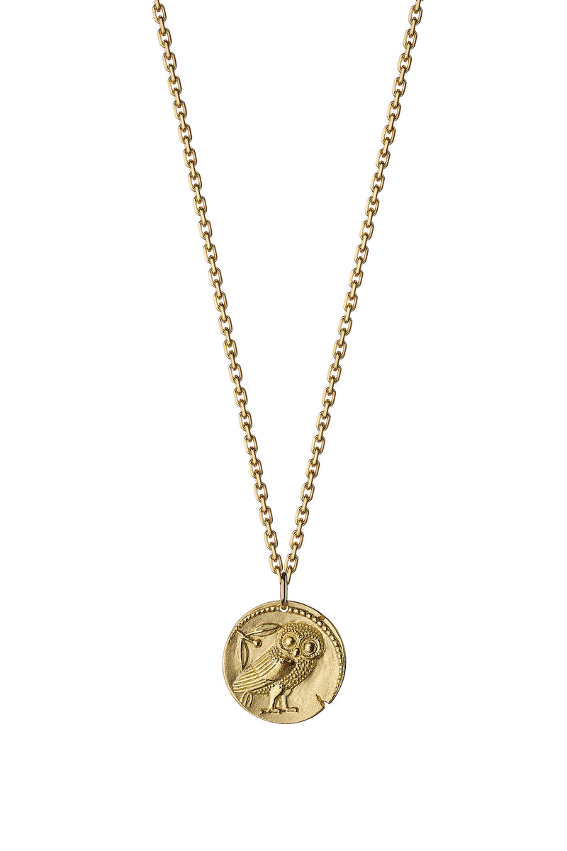 Double Side Gold Coin Necklace