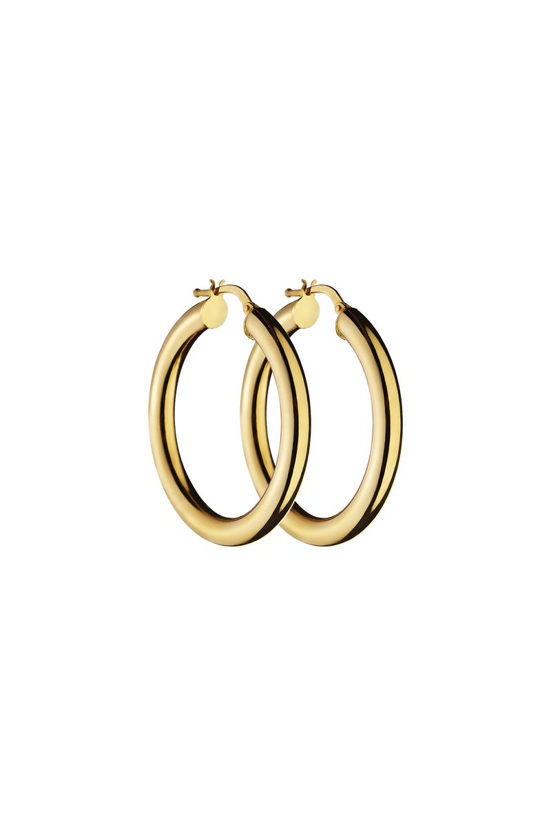 Gold Creoll Medium Hoop Earrings