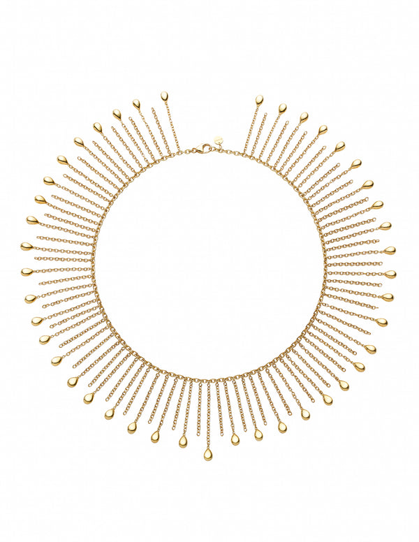 Drop Gold Large Necklace