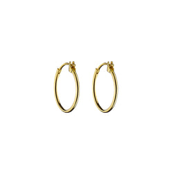 Gold Creoll Thin Hoop Earrings