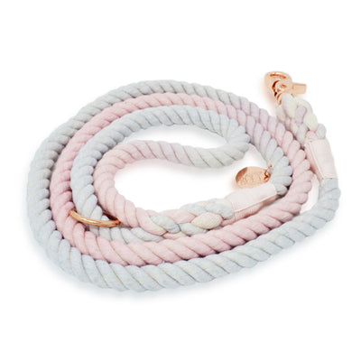 Cotton Rope Leash - Blushing Grey