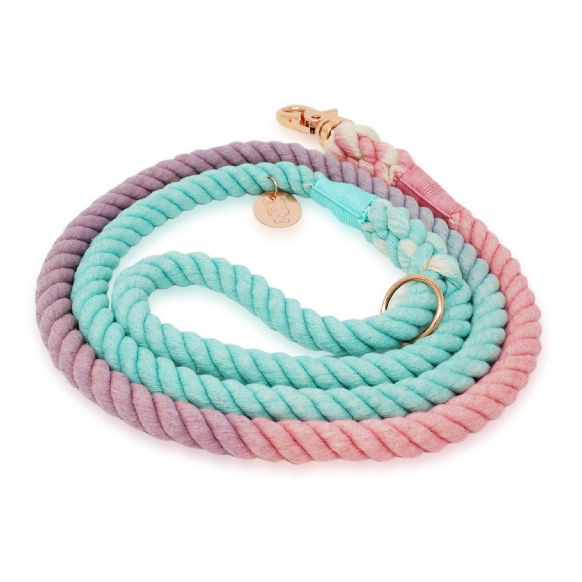 Cotton Rope Leash - Aquatic