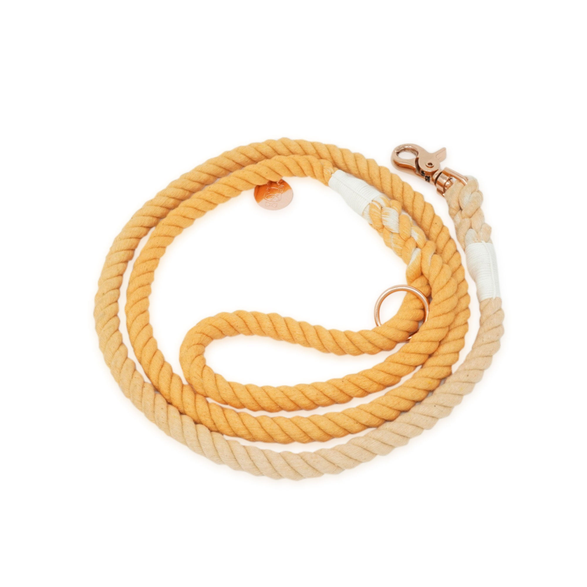 Cotton Rope Leash - Orange Creamsicle