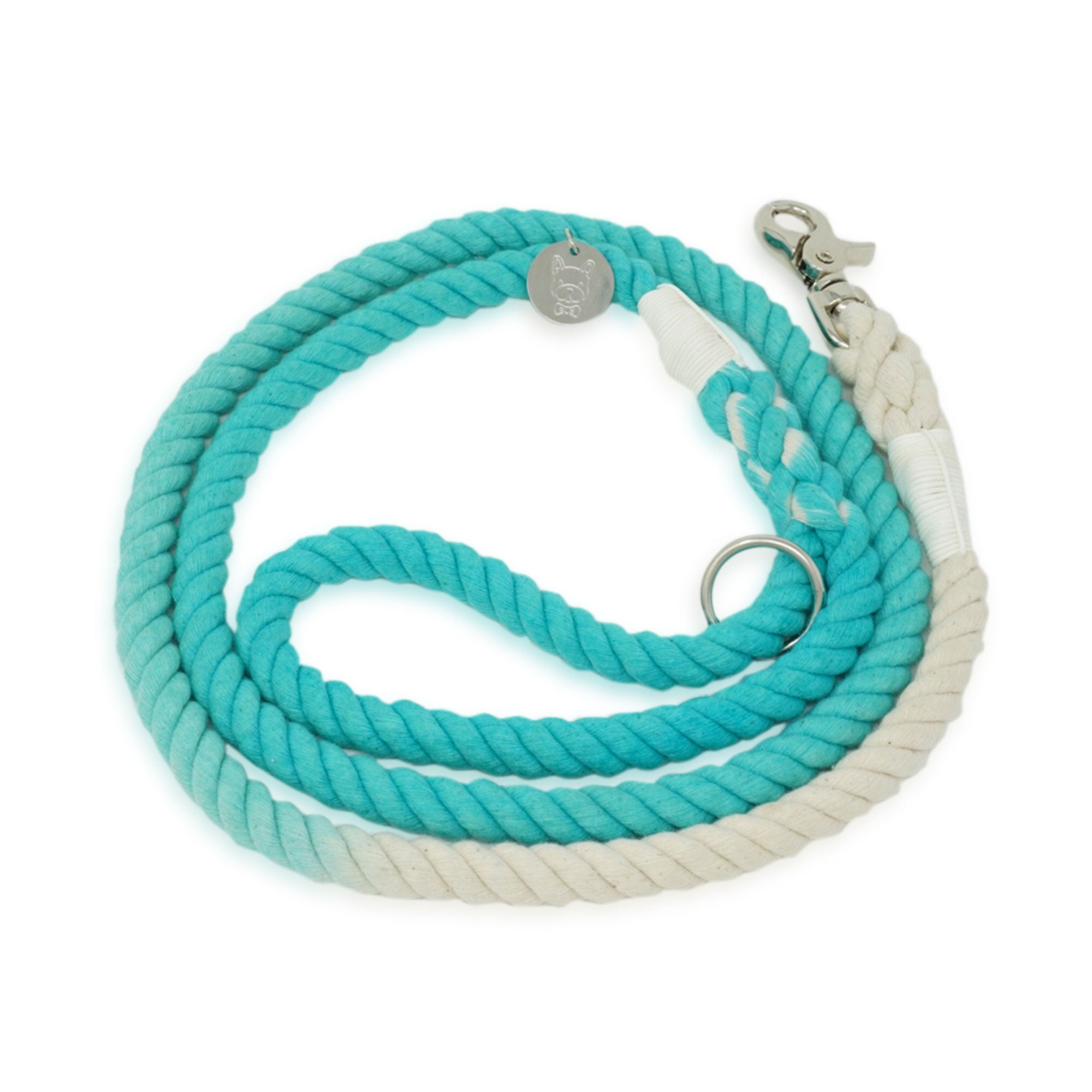 Cotton Rope Leash - Turquoise Ombre