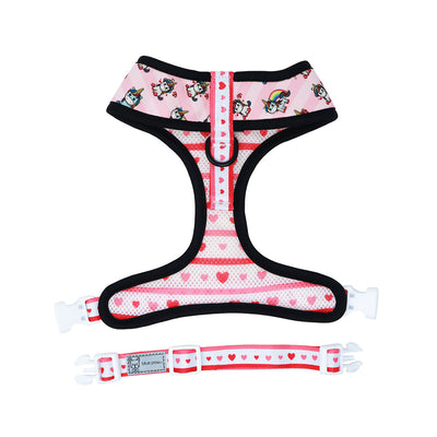 Reversible Dog Harness - Hearts & Horns