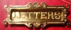 Ornate Brass Letter Plate
