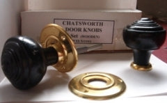 Chatsworth Door Knobs Victorian Style Ebonised Wood