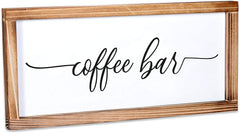 Coffee Bar Sign - Rustic Kitchen Sign 8x17