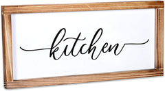 Kitchen Sign - Rustic Kitchen Decor Sign 8x17