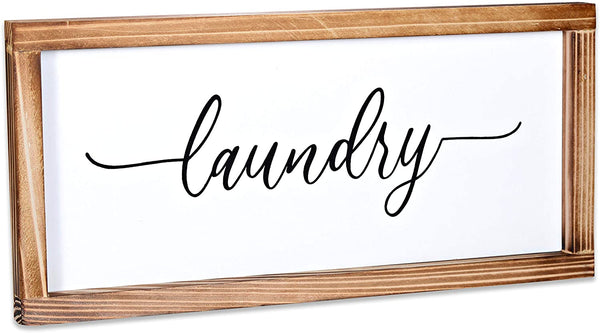 Laundry Sign - Modern Farmhouse Laundry Room Wall Decor 8x17