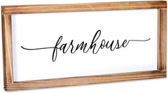 Farmhouse Sign - Rustic Farmhouse Decor For The Home Sign - Modern Farmhouse Wall Decor 8x17