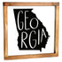 Georgia Sign - Rustic Farmhouse Decor For The Home Sign, Farmhouse State Gift 12x12