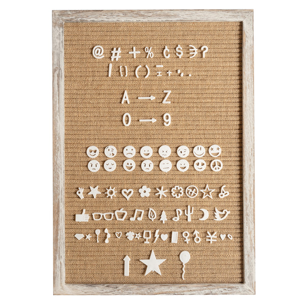 12x17 Shabby Chic Burlap Letter Board