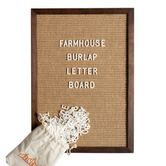 12x17 Cherry Wood Burlap Letter Board