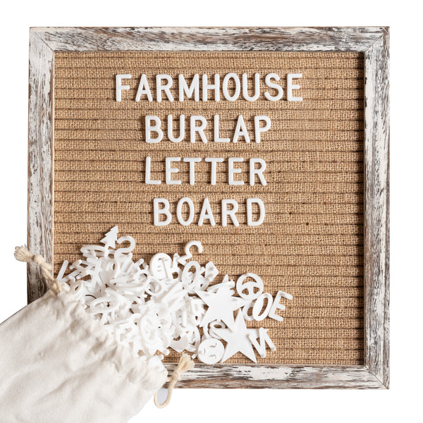 10x10 Shabby Chic Burlap Letter Board