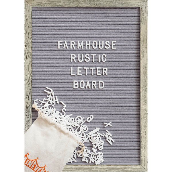 Grey 12x17 Farmhouse Shabby Chic Rustic Letter Board