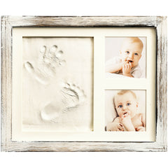Grey Frame Farmhouse Baby Handprint Kit