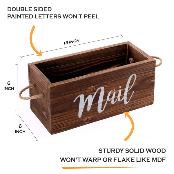 Rustic Mail Organizer  (Brown)