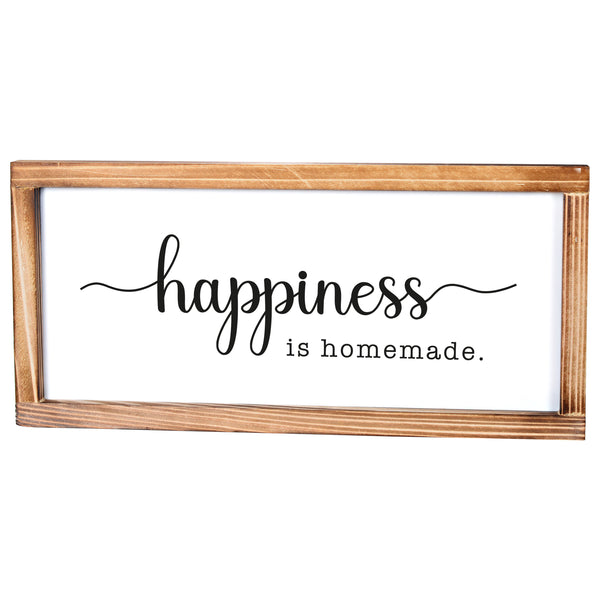Happiness Sign - Modern Farmhouse Wall Decor Sign 8x17