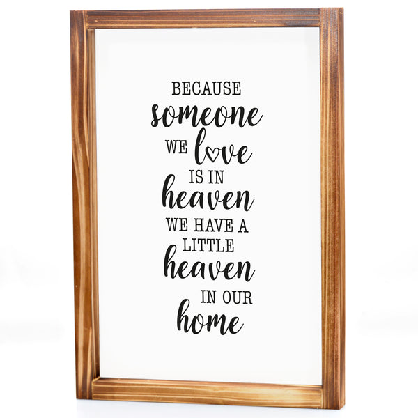 In Heaven Sign - Modern Farmhouse Wall Decor Sign 11x16