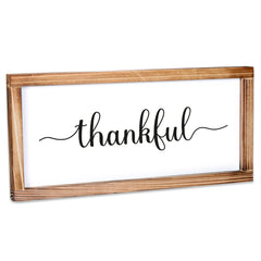 Thankful Sign - Modern Farmhouse Wall Decor Sign 8x17
