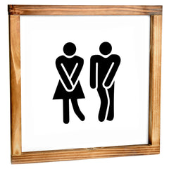 Toilet Sign - Funny Farmhouse Bathroom Decor Sign 12x12