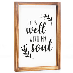 Well With My Soul Sign - Modern Farmhouse Wall Decor Sign 11x16