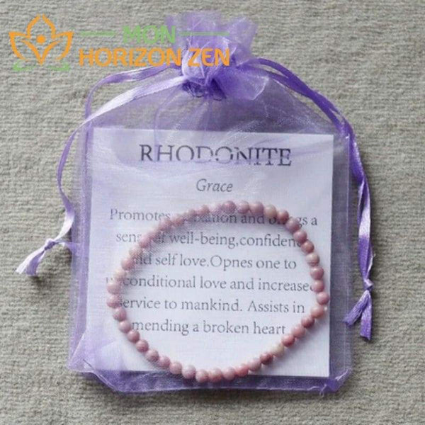 mini bracelet rhodonite