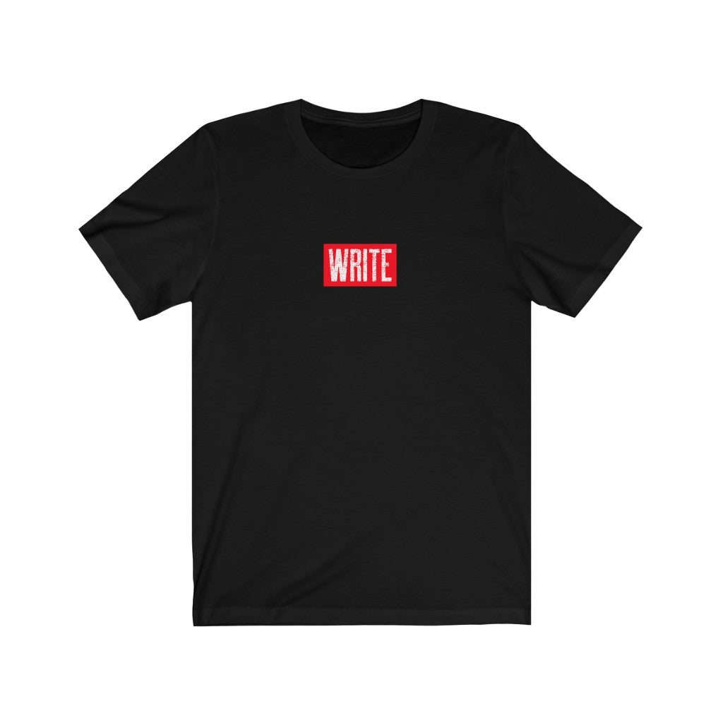 WRITE Red Box logo T-Shirt Black