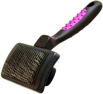 KW SMART Self Cleaning Grooming Slicker Brush for Dogs and Cats