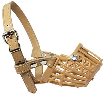 Dogs My Love Plastic Dog Basket Muzzle Beige 7 Sizes