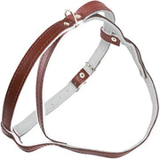 Leather Dog Harness Padded Brown