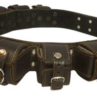 "8lbs Genuine Leather Weighted Dog Collar 2"" wide. Exercise and Training. Fits 24""-30"" Neck size"