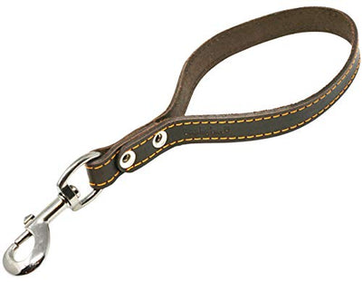 Genuine Leather Dog Traffic Leash Short 12